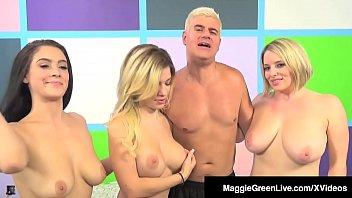 Maggie Green Has 5 Way Orgy W/ Noelle Easton & Bibi Noel 11 min