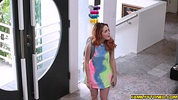 Pervy Uncle Rich cock feed Amarna Miller