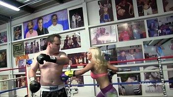 Blonde Bombshell Mixed Boxing