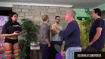 Demonstration Turns into a Gangbang for Mature Lube Saleswoman Sheila Marie thumbnail