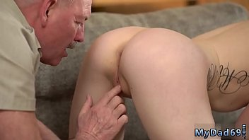 Old white man gets fucked in the ass by two aggressive girls Russian 7 min