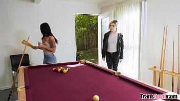 Trans Girlfriends Sharing A Huge Cock - Ella Hollywood and Khloe Kay