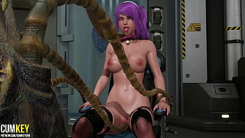 Tentacles Inseminate Busty Bitch in the Laboratory | 3D Porn Hentai | Fallen Doll