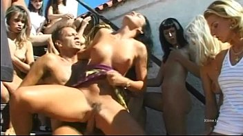 Dirty sexual orgy for enlashed whores 61 min