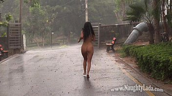 Walk around naked a lot - Walking nude in the rain