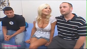 SwingersWatching.com blond milf huge tits gets fuck hard in front of husband