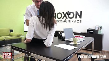 Pussy eaten at her desk - Assfucking my wife in my office