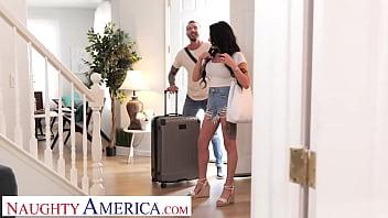 Naughty America - Big tit brunette Gianna Grey fucks her friend's husband