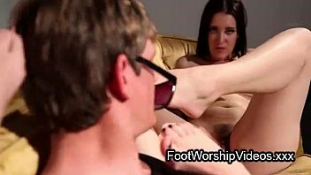Guy worship feet of dykes and fuck them