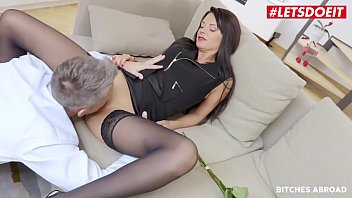 LETSDOEIT - This Guy Tries His Luck With The New Girl In Town And She's Realy Into Him - Monika Benz