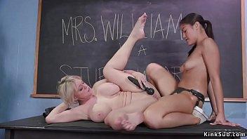 Asian student anal fucks MILF professor