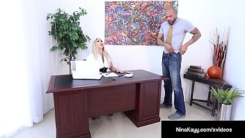 Hot Employer Nina Kayy Is Banged By A Big Dick Grunt Worker!
