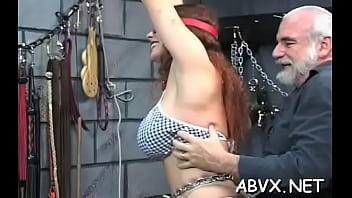 Pretty floosy and perky nipples is riding a sex tool