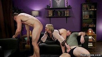 Milf bangs husband while taking dick 5 min