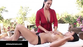 Leggy, Jelena Jensen & Frenchie, Aria Get The LesbO Sex On!