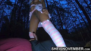 My Horny Step Dad Made Me Ride His Dick In The Woods, After A Fight With My Mother, Hot Ebony Step Daughter Msnovember Hardcore Riding Step Dad On The Grass Outside on Sheisnovember