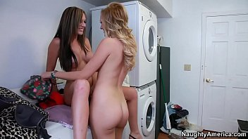 Naughty America  Lesbians Brett Rossi And Dest  Rossi And Destiny Dixon Fucking In The Laundry Room