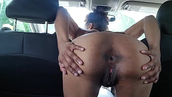 Pulled over at a gas station because she couldn't wait to get home
