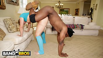 BANGBROS - Blonde PAWG AJ Applegate Gets Fucked By Home Invader With Big Black Dick