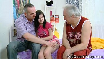 Anything goes adult Old goes young - alena and her man are together in bed