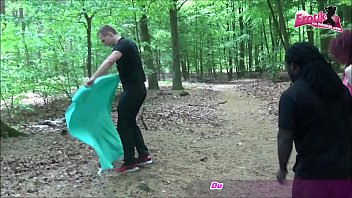 german outdoor threesome with real hooker teen in berlin 14 min