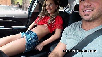 Blonde stranded teen sucking cock in car porno izle