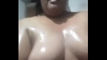 Chubby Jujuy slut in the shower