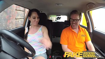 Funny fake porn Fake driving school cheating learners tight pussy filled with cum