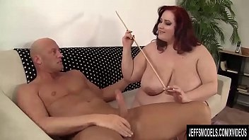 Lewd Plumper Eliza Allure Has Her Pussy Slammed by a Bald Dude