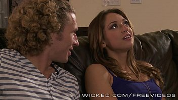 Wicked - Hot couple fuck on the couch 6 min