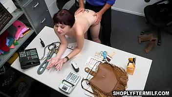 Officer punishes sexy teacher for stealing abunch of stolen merchandise