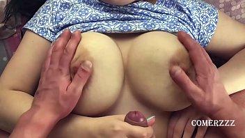 CUM ON BIG TITS OF MY SISSY GIRLFRIEND 14 min