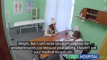 Fake Hospital Doctor denies antidepressants and prescribes a good licking and a 13 min