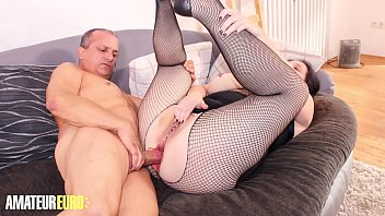AMATEUR EURO - Slutty BBW Wife Takes Deep Anal From Her Husband