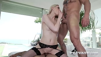 Private.com - Deep Throat Master Milena Devi Gets Two Dicks At A Time!