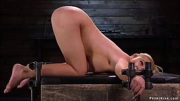 Blonde is chained and set on Sybian