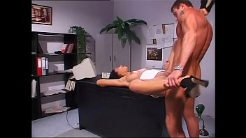 A job interview turns into a wild anal fuck in the desk office with her boss