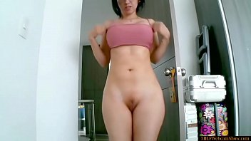 Hot MILF With Wide Hips, Big Boobs And Bald Pussy thumbnail