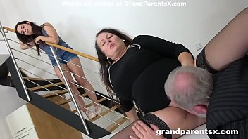 Grandpa fucks his fat wife and stepdaughter pornhub video
