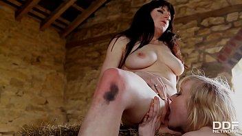 Lesbian cowgirls Samantha Bentley & Satine Spark finger & lick their pinks