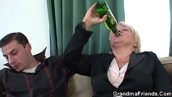 Mature woman drunk Two buddy fuck busty old lady