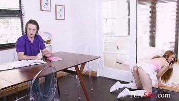Hot Brunette Teen Sister Returns The Favour- Nina Skye