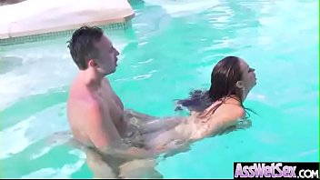 Lovely Girl (Nikki Benz) With Big Ass Get Oiled And Hardcore Anal Sex mov-26