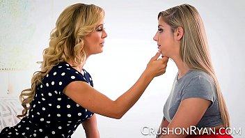 CrushGirls - Ryan Riesling's step mom teaches her to masturbate 12 min