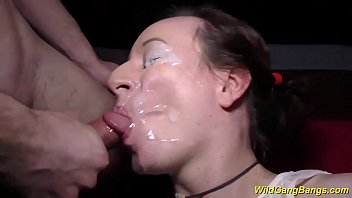 her first extreme anal gangbang orgy