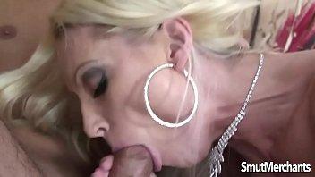 Hot blonde MILF takes cock