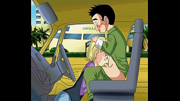 Android 18 sucking krillins dick in the car