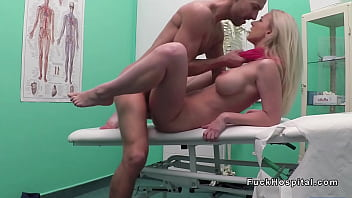 Busty blonde in red scarf bangs doctor pornhub video
