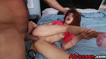 Skinny Teen Sally Gets Roughly Rammed In Bedroom