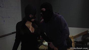 Dude anal fucks partner in crime in bondage